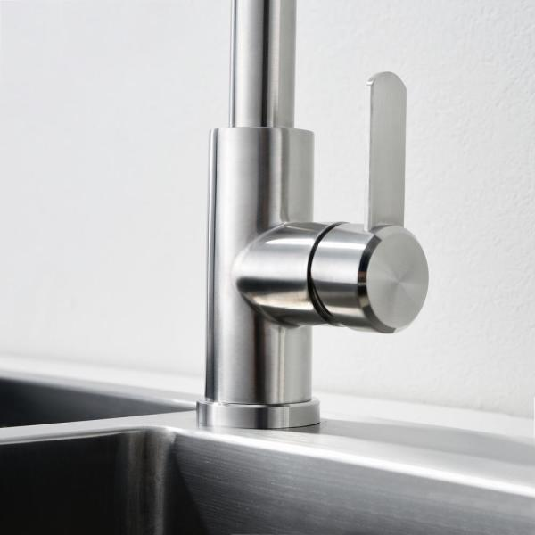 Ruiling Modern Single Handle Pull Down Sprayer Kitchen Faucet With 3 Spray Mode In Stainless Steel Atk 173 The Home Depot
