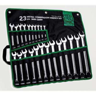 8-32 mm 12 Point Metric Full Polish Combination Wrench set (23 Piece)