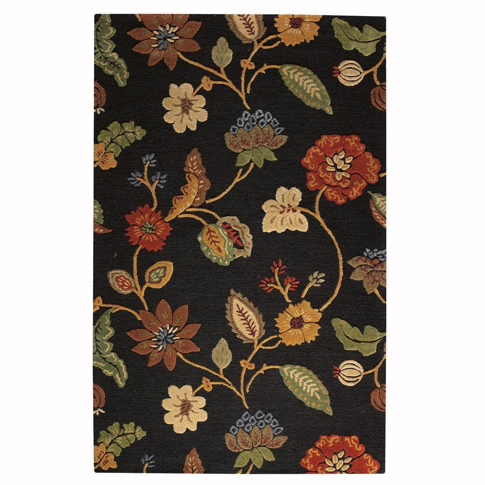 Home Decorators Collection Portico Ebony 9 ft. 9 in. x 13 ft. 9 in. Area Rug