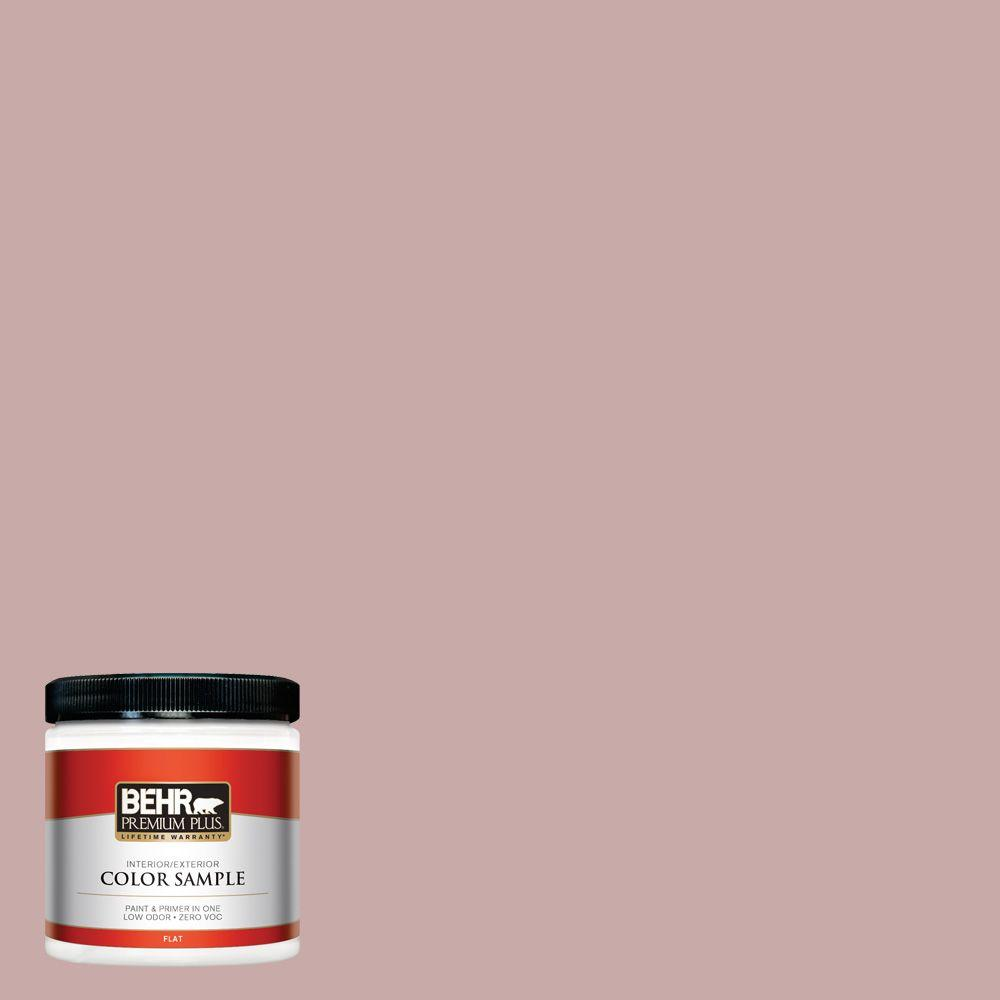 BEHR Premium Plus 8 oz. #130E-3 Rosy Tan Interior/Exterior Paint Sample