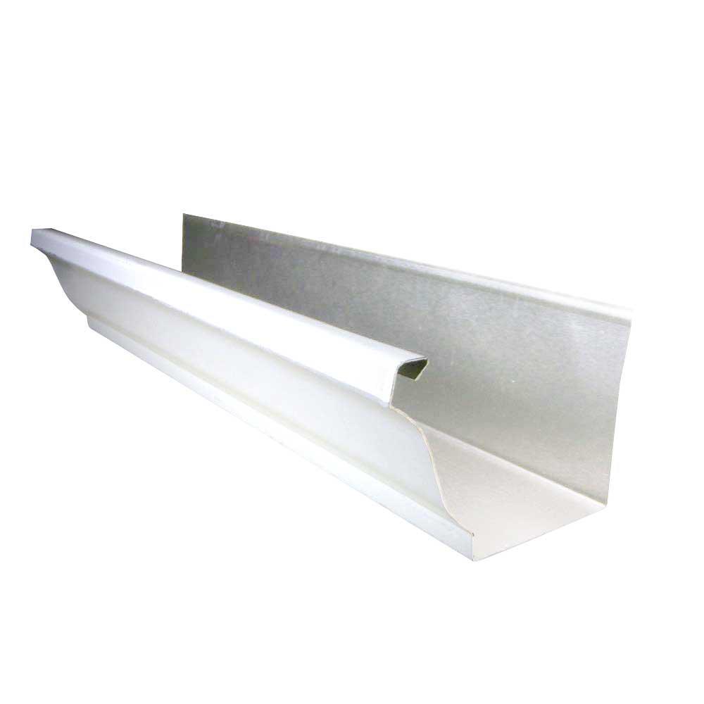5 in. x 10 ft. White K-Style Aluminum Gutter