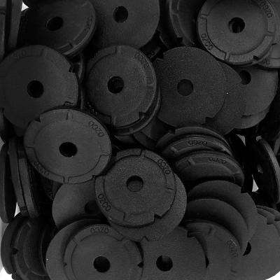 2 in. Black Galvanized Steel Heavy Duty Washer (150-Piece)
