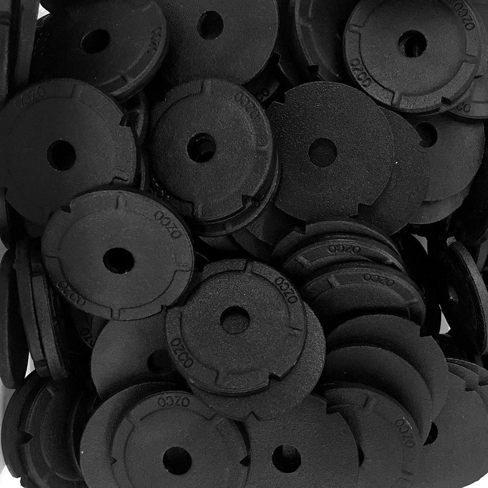 2 in. Black Galvanized Steel Heavy Duty Washer(150-Piece)