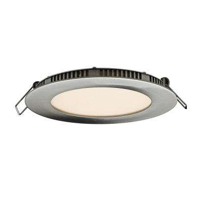 4 in. Satin Nickel Integrated LED Recessed Kit