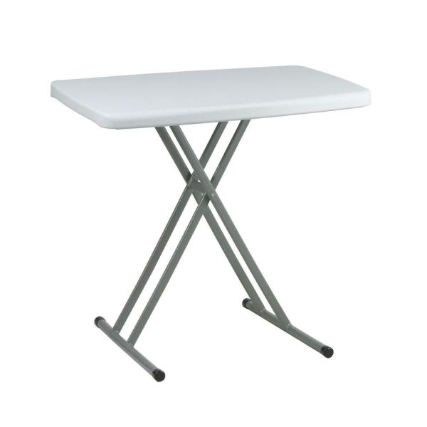 Office Star Products Personal Resin Light Gray Tray Table