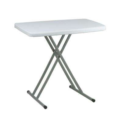 Personal Resin Light Gray Tray Table