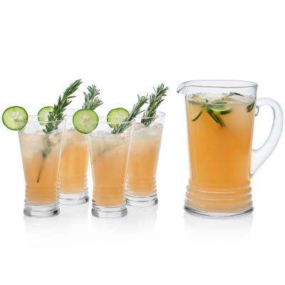 Monclova 5-Piece Glass Entertaining Set