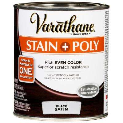 1 qt. Black 450 Satin Oil-Based Interior Stain and Polyurethane (2 Pack)