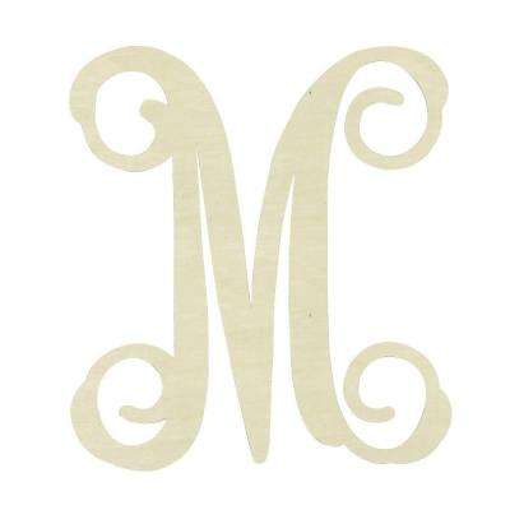 19.5 in. Unfinished Single Vine Monogram (M)