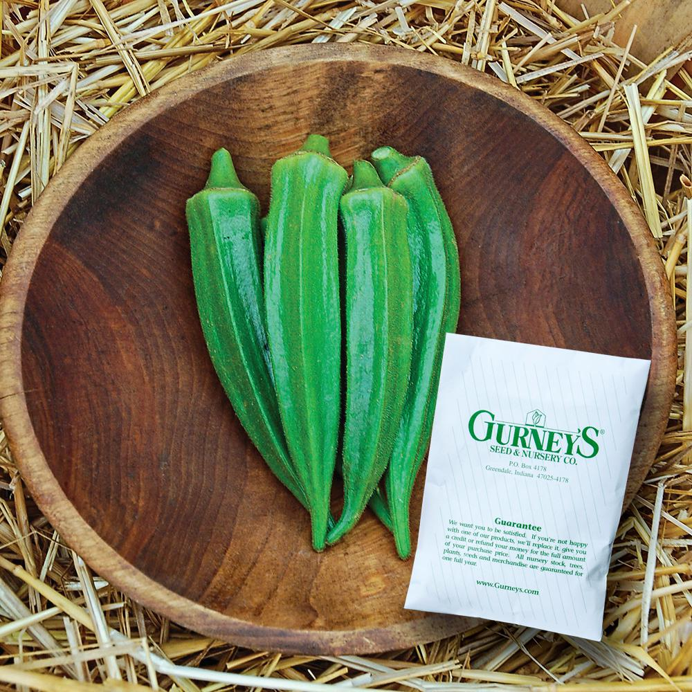 Gurneys Okra Clemson Spineless 80 100 Seed Packet 14684 The