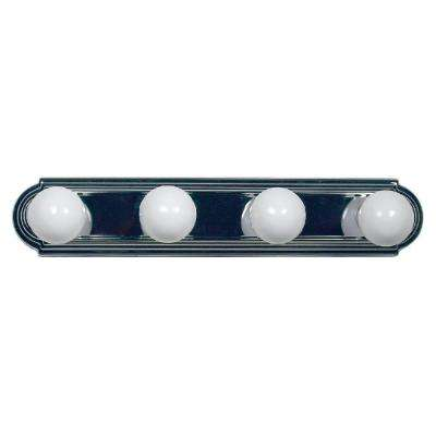 Vanity Lighting Family 4-Light Satin Nickel Bathroom Vanity Light