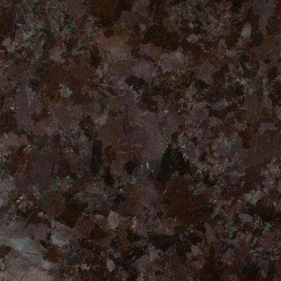3 in. x 3 in. Granite Countertop Sample in Brown Antique