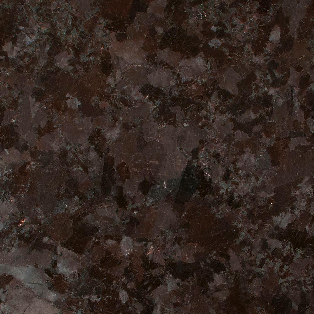 3 in. x 3 in. Granite Countertop Sample in Brown Antique