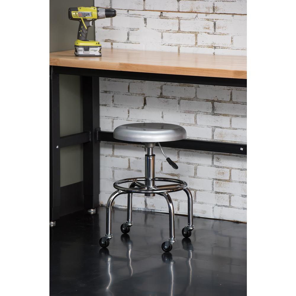 Aluminum Work Stool  sc 1 st  The Home Depot : work stool adjustable height - islam-shia.org