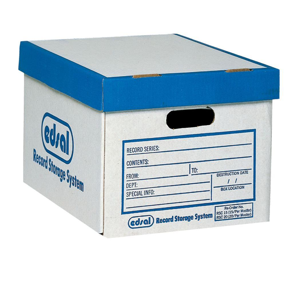 Edsal 25 lb. Record Storage Boxes (12-Pack)