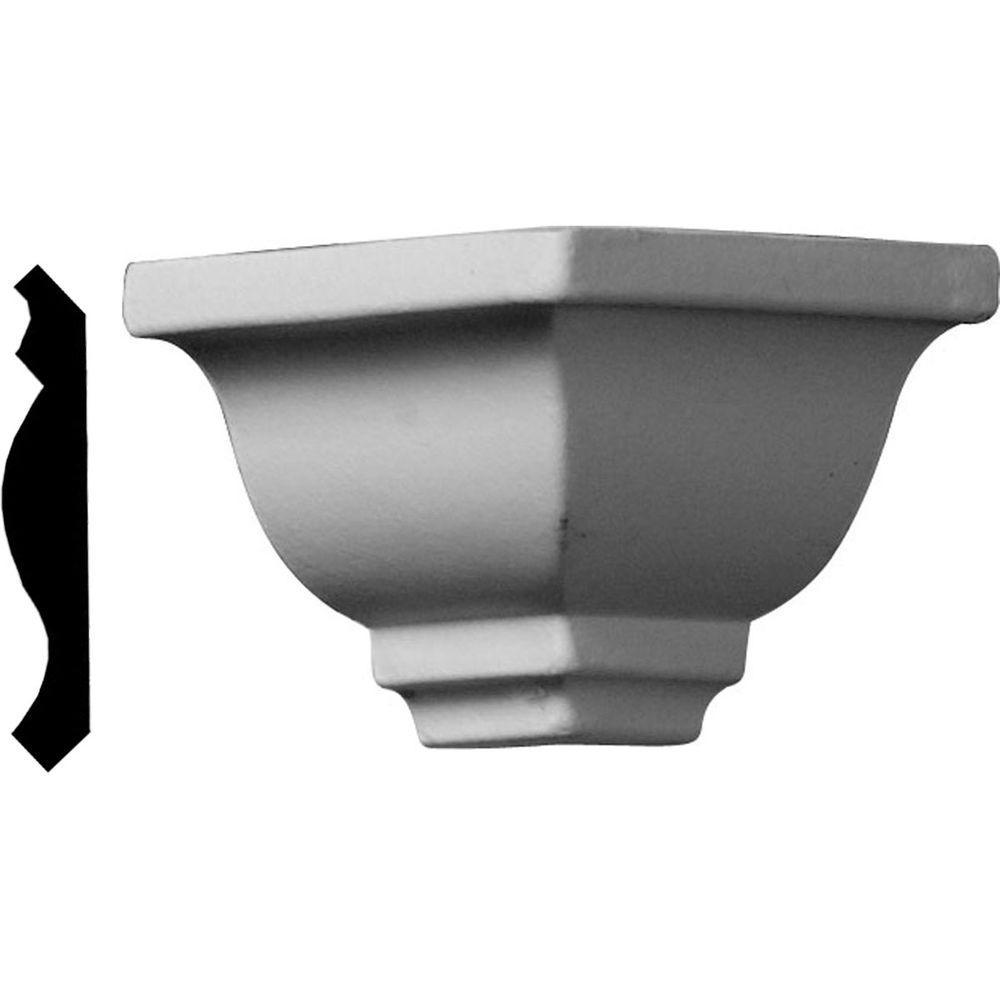1-5/8 in. x 1-5/8 in. x 1-5/8 in. Polyurethane Crown Outside Corner Moulding