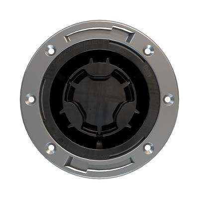 "Fast Set 4"" ABS, Hub Toilet Flange with Test Cap and Stainless Steel Ring"
