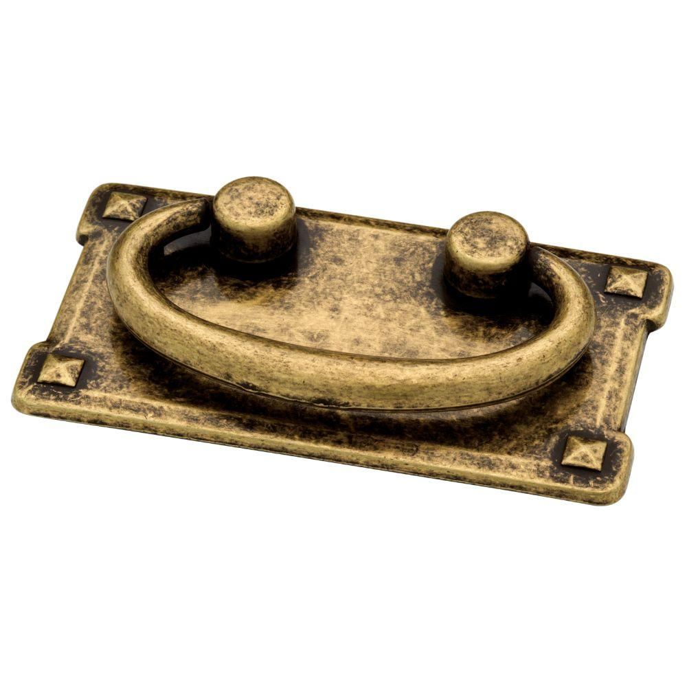 liberty mission 3 in 76mm antique brass bail drawer pull 62076ab