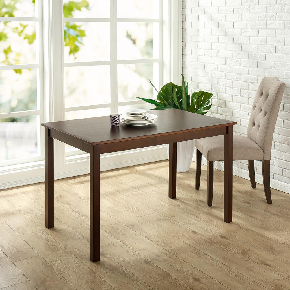 Kitchen Furniture: Zinus Espresso Wood Dining Table-HD-DT-A29