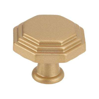 Italian Designs 1 in. Matte Brass Small Octagon Cabinet Knob
