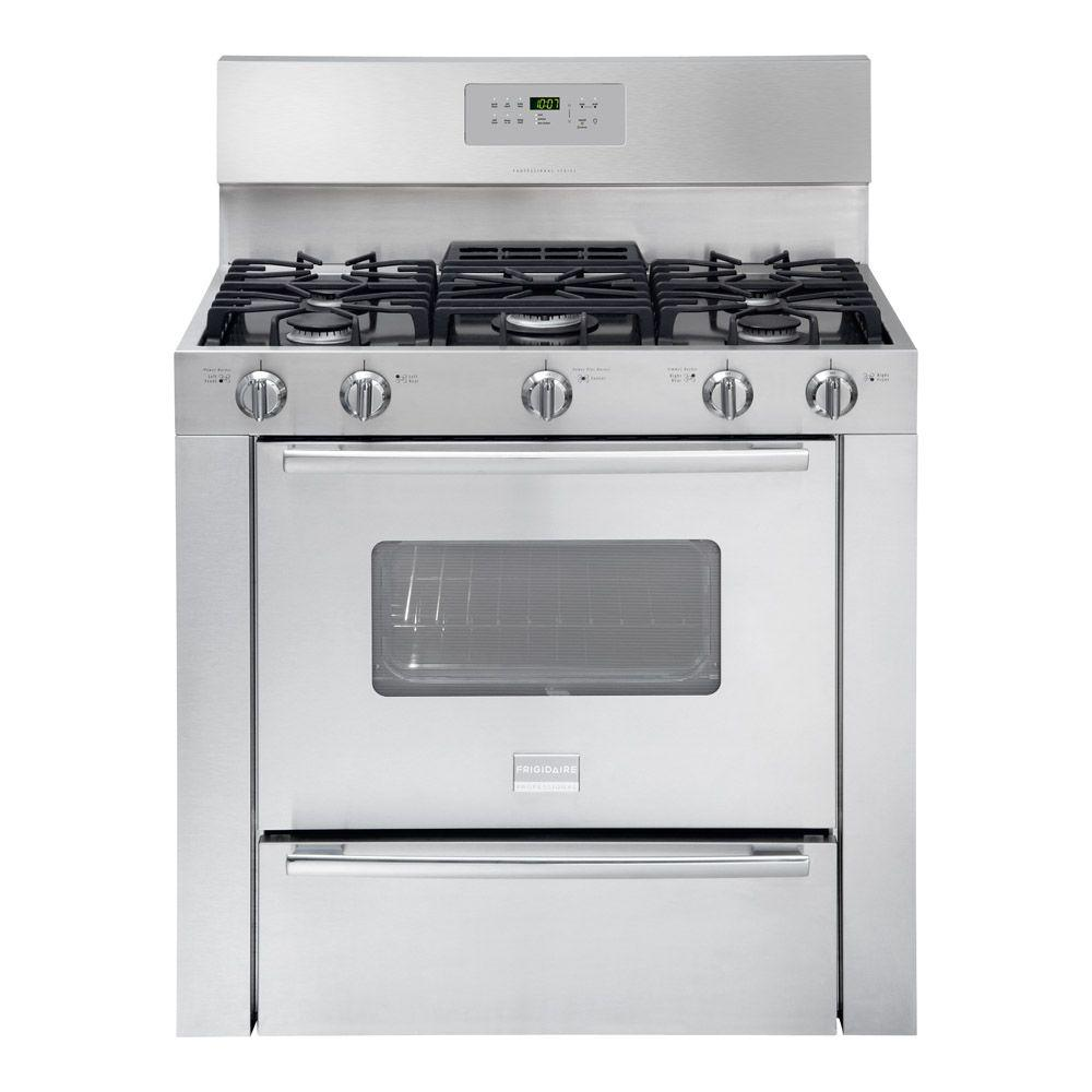 Frigidaire Professional 36 in. 3.7 cu. ft. Gas Range with Self-Cleaning Oven in Stainless Steel