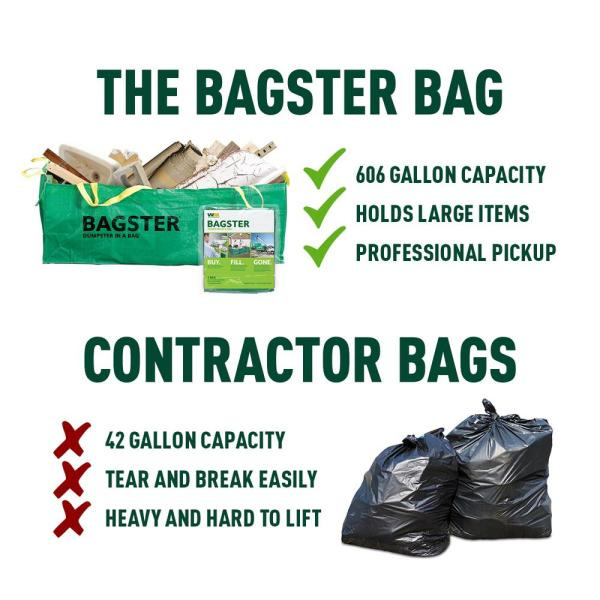 Wm Bagster Dumpster In A Bag Holds Up To 3 300 Lb 775 658 The Home Depot