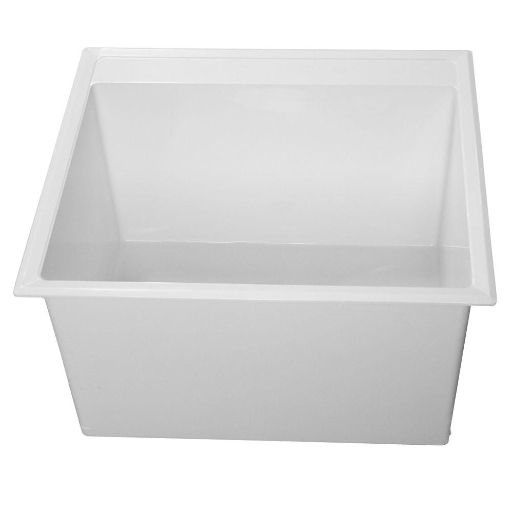 Laundry Bathtub 24.5 in. x 22 in. Self-Rimming, Compression Molded ...