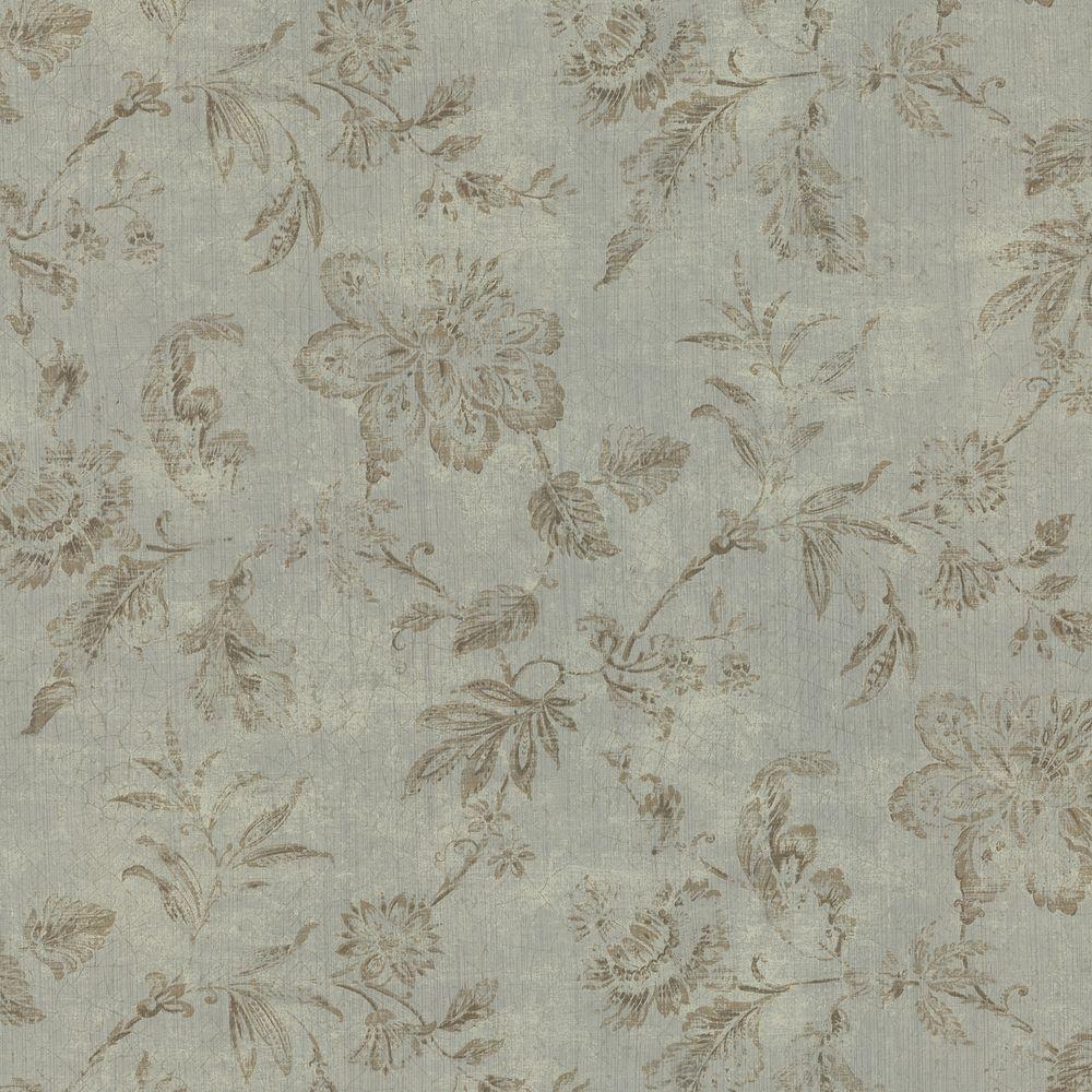 Brewster 56 sq. ft. Tonal Jacobean Wallpaper