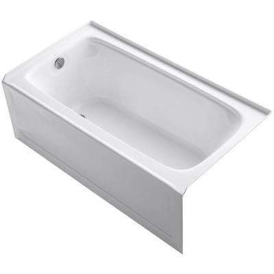 Bancroft 60 in. x 32 in. Alcove Bathtub with Integral Apron, Integral Flange and Left-Hand Drain in White