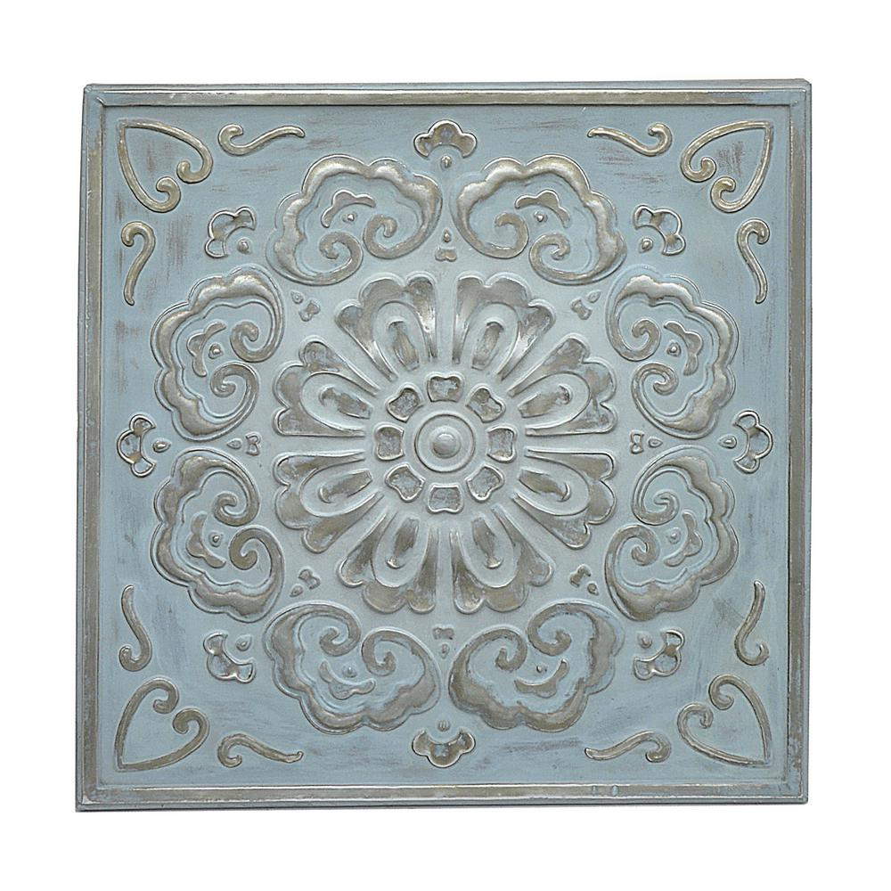 Metal Wall Medallion Fascinating Three Hands Square Medallion Wall Art57523  The Home Depot Inspiration