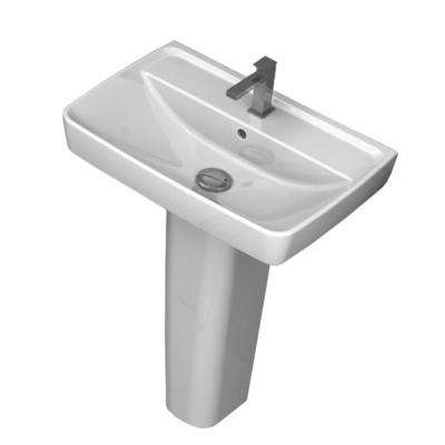 Duru Pedestal Sink in White