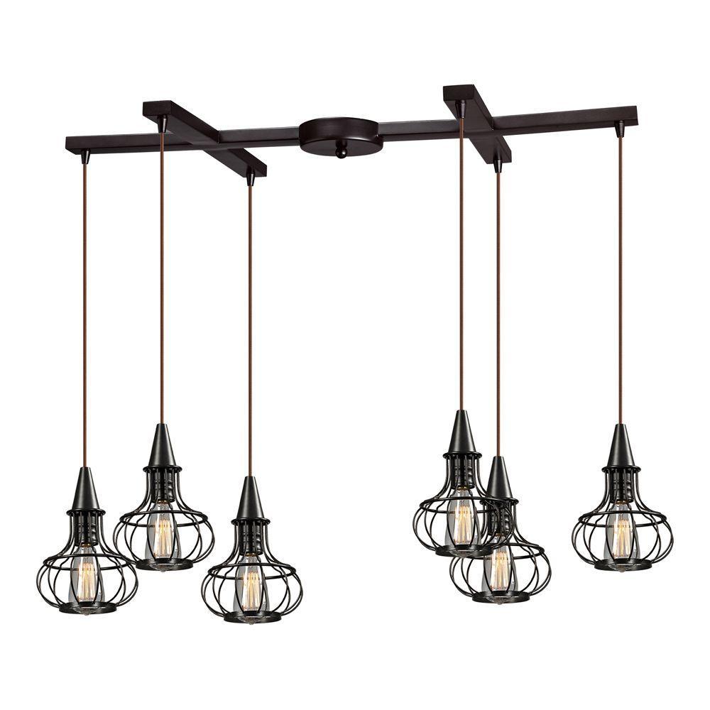 modern pendant light fixtures panel simple. Titan Lighting Brightling Collection 6-Light Oil-Rubbed Bronze Mini Pendant Modern Pendant Light Fixtures Panel Simple E