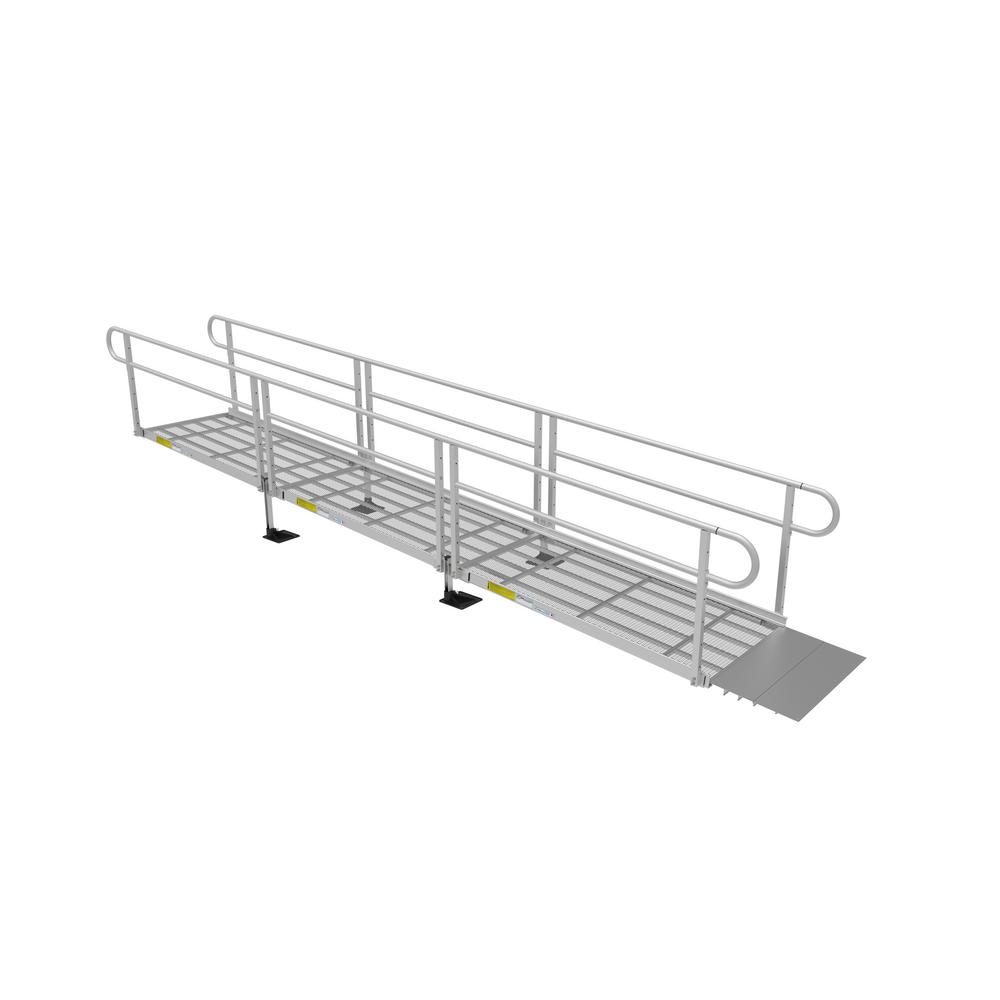 EZ-ACCESS PATHWAY 3G 18 ft. Ramp Kit with Expanded Metal Surface and Two-line Handrails