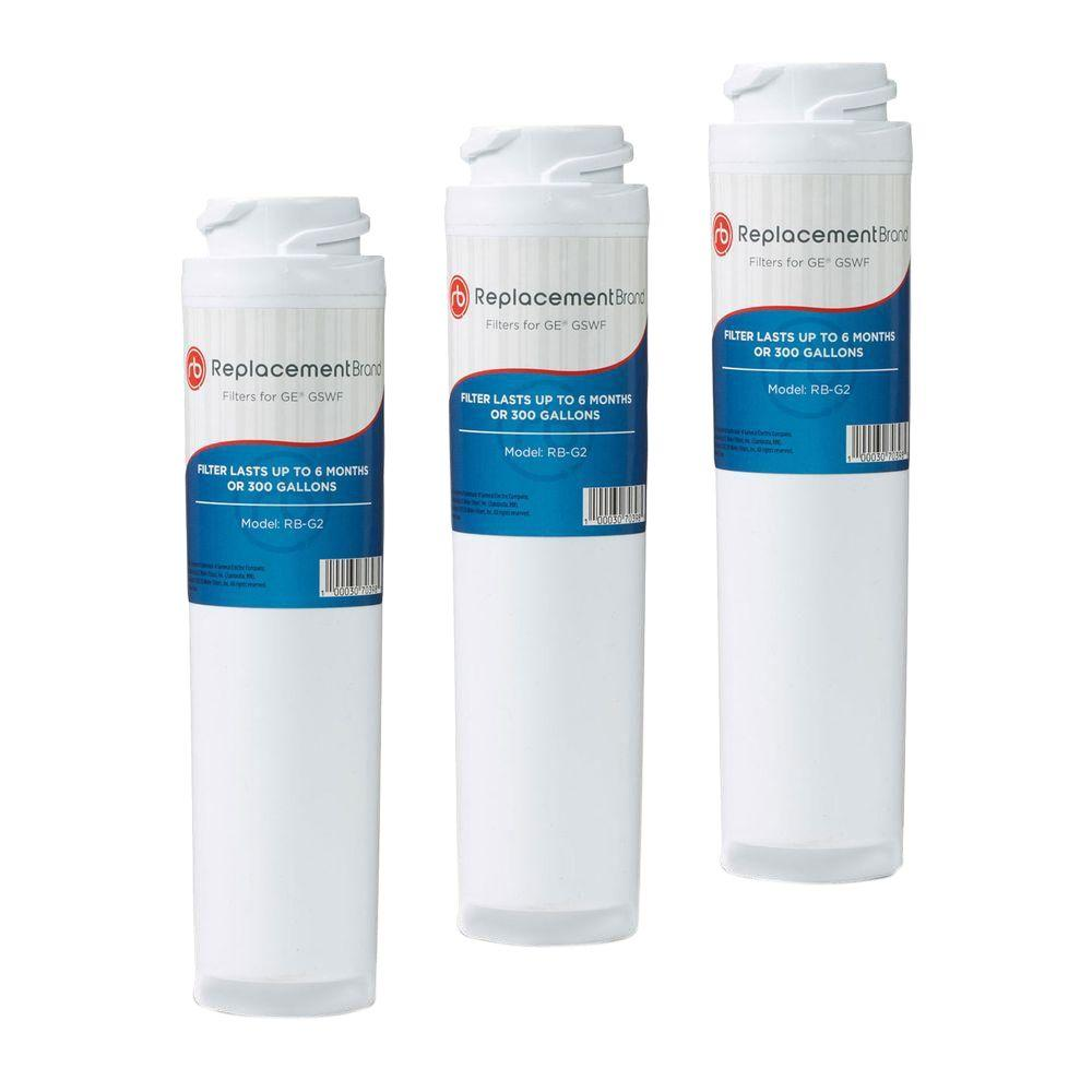 ReplacementBrand GSWF Comparable Refrigerator Water Filter (3-Pack)