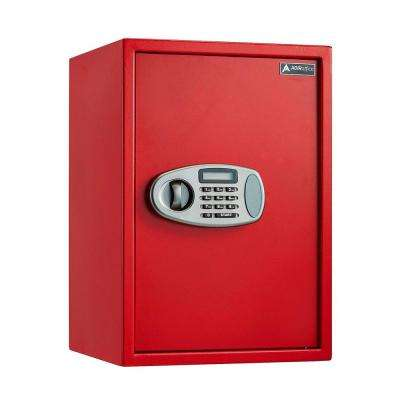 2.32 cu. ft. Steel Security Safe with Digital Lock, Red