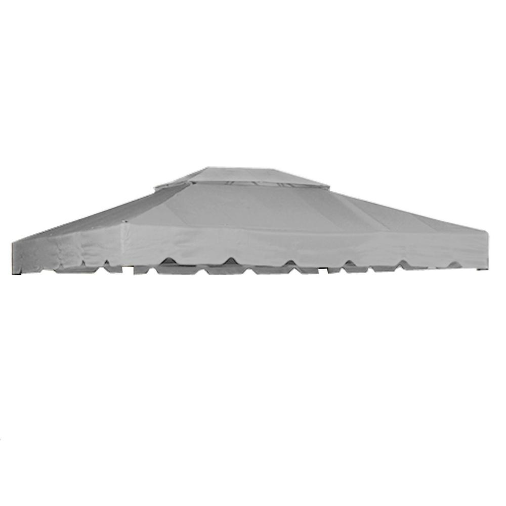 RipLock 350 Slate Gray Replacement Canopy for Antigua 12 ft. x 10 ft. Garden House