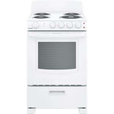 24 in. 2.9 cu. ft. Electric Range Oven in White