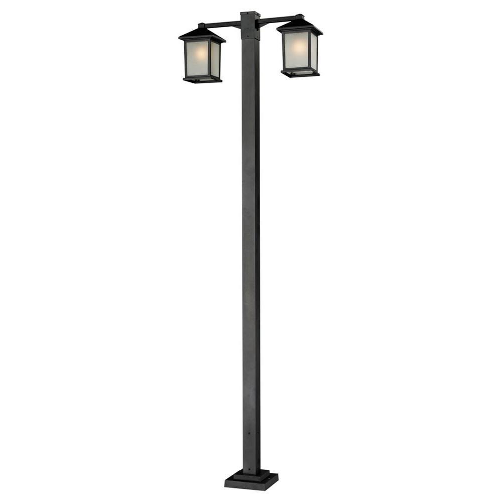 Filament Design Lawrence 2-Light Black Incandescent Outdoor Post Light