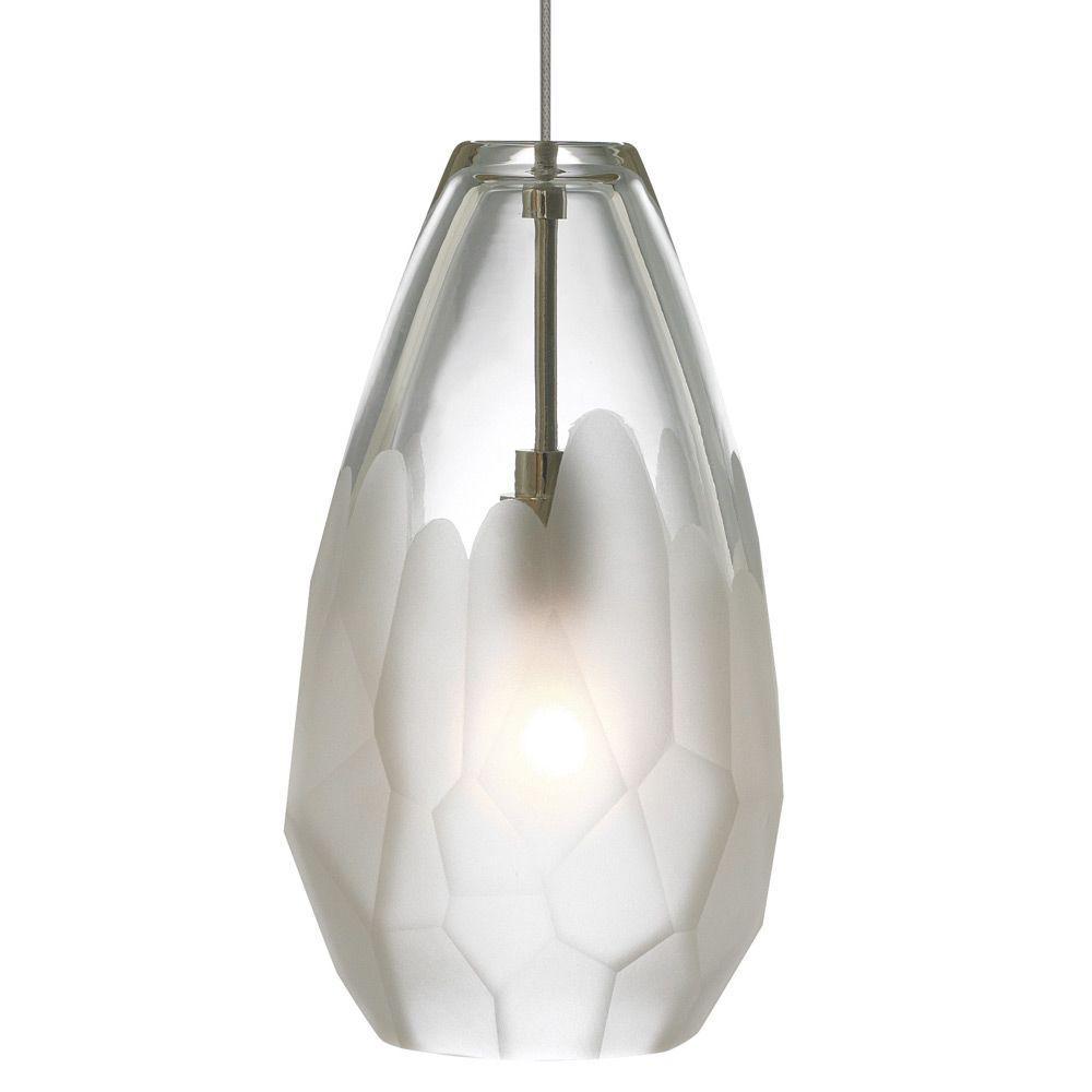 Briolette 1-Light Bronze Frost LED Hanging Mini Pendant