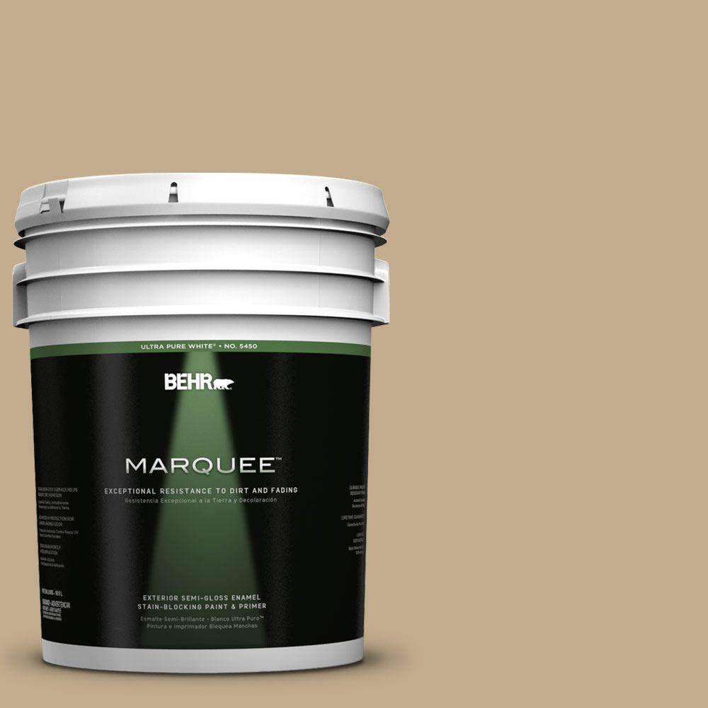 BEHR MARQUEE 5-gal. #PPU7-21 Woven Straw Semi-Gloss Enamel Exterior Paint