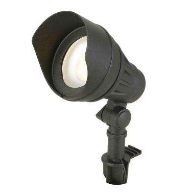 Low-Voltage Integrated LED (75W halogen equivalent) Outdoor Black Flood Light