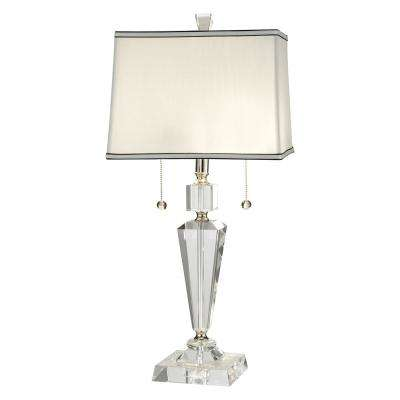 27 in. Danbrook Polished Nickel Finish Table Lamp with Fabric Shade