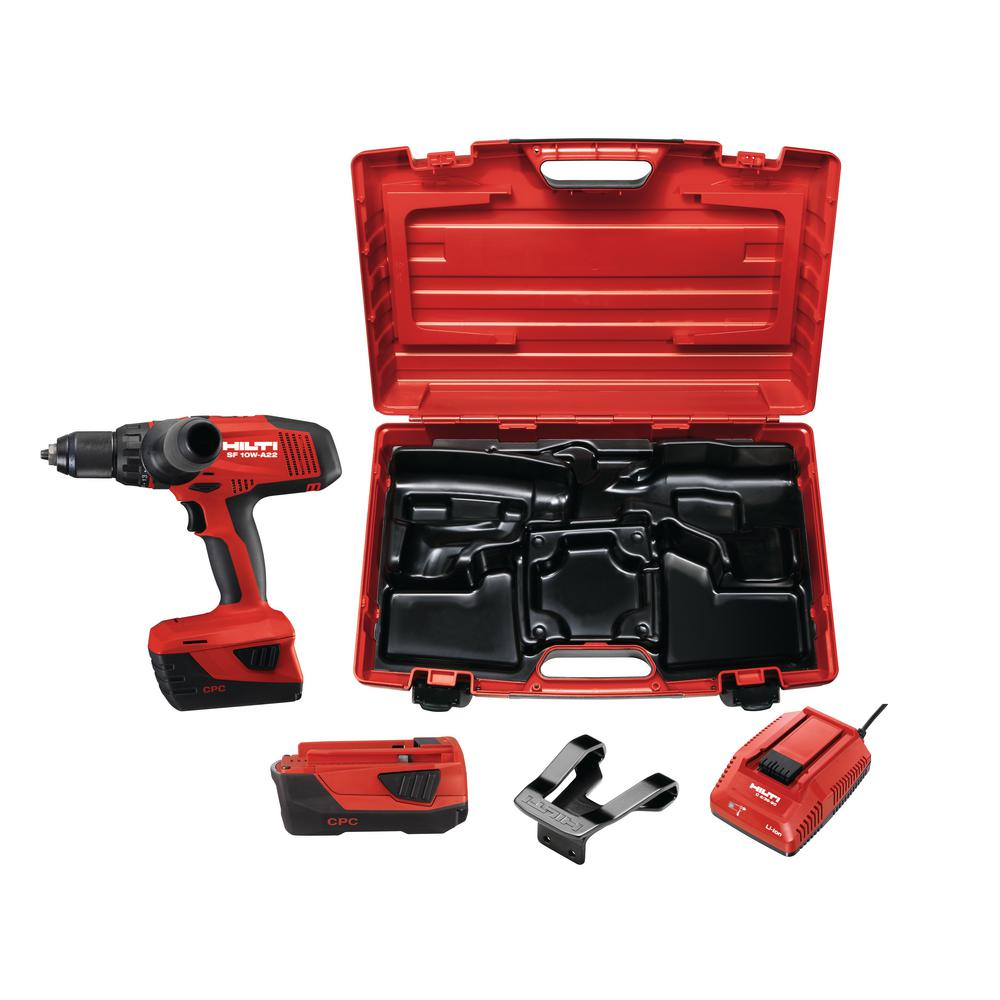 hilti sf 10 watt 22 volt cordless drill driver with active. Black Bedroom Furniture Sets. Home Design Ideas
