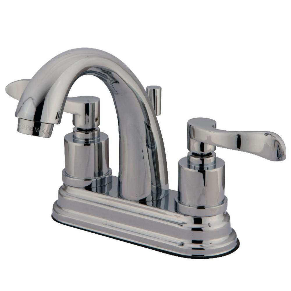Kingston Brass Modern 4 in. Centerset 2-Handle Bathroom Faucet in Chrome