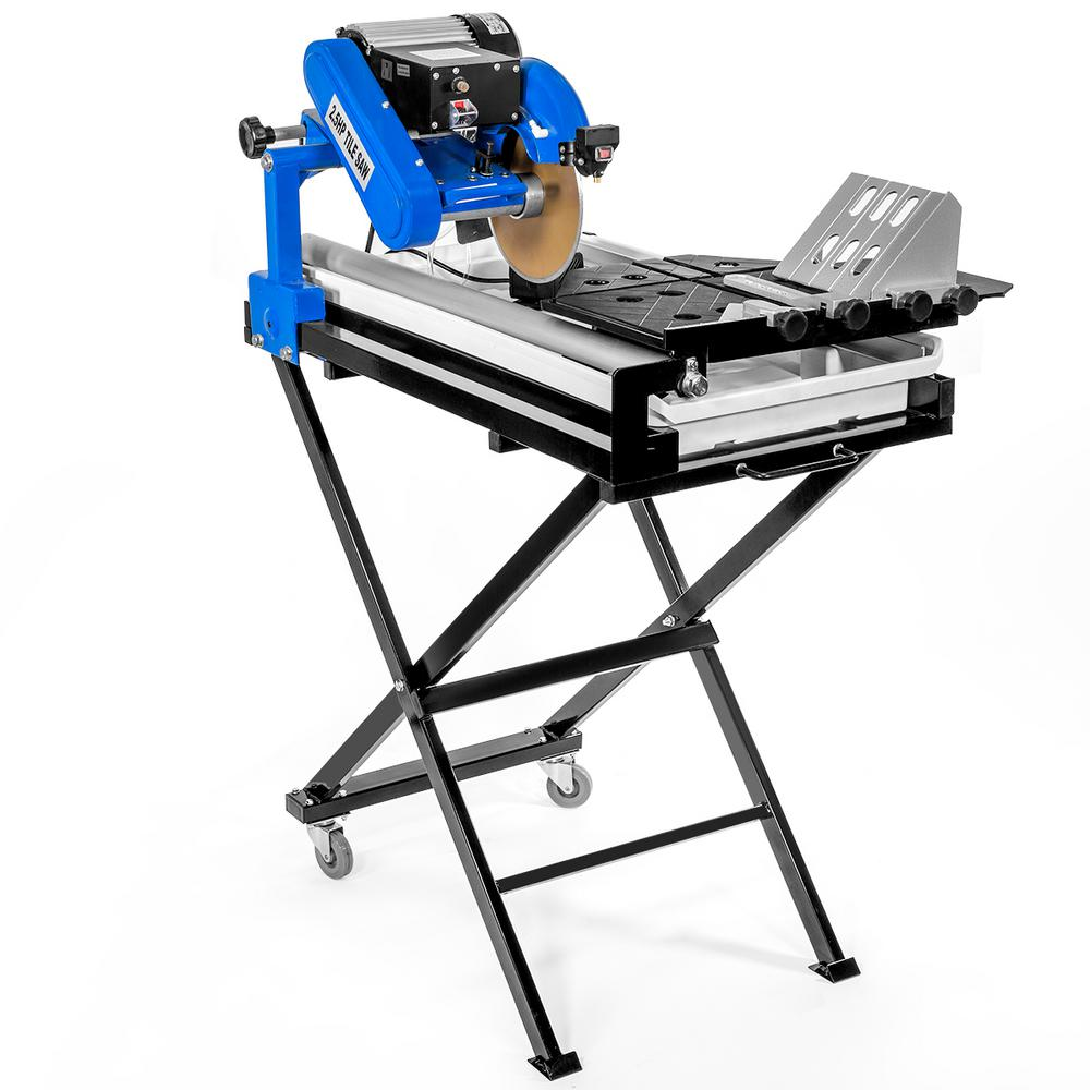 Stark 15.5 Amp 7.25 in. Corded Wet Tile Saw with Stand