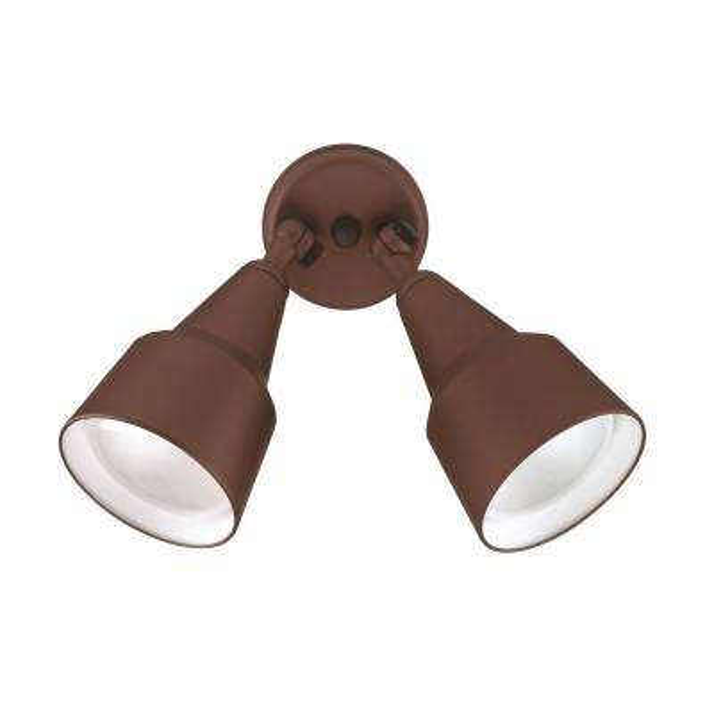 Double Cone 150-Watt 2-Light Bronze Outdoor Wall Mount Cylinder Light