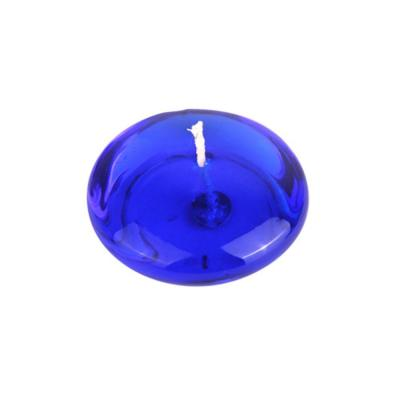 3 in. Clear Blue Gel Floating Candles (6-Box)