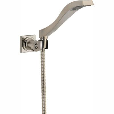 Dryden 1-Spray 2.5 in. Single Wall Mount Handheld Shower Head in Stainless
