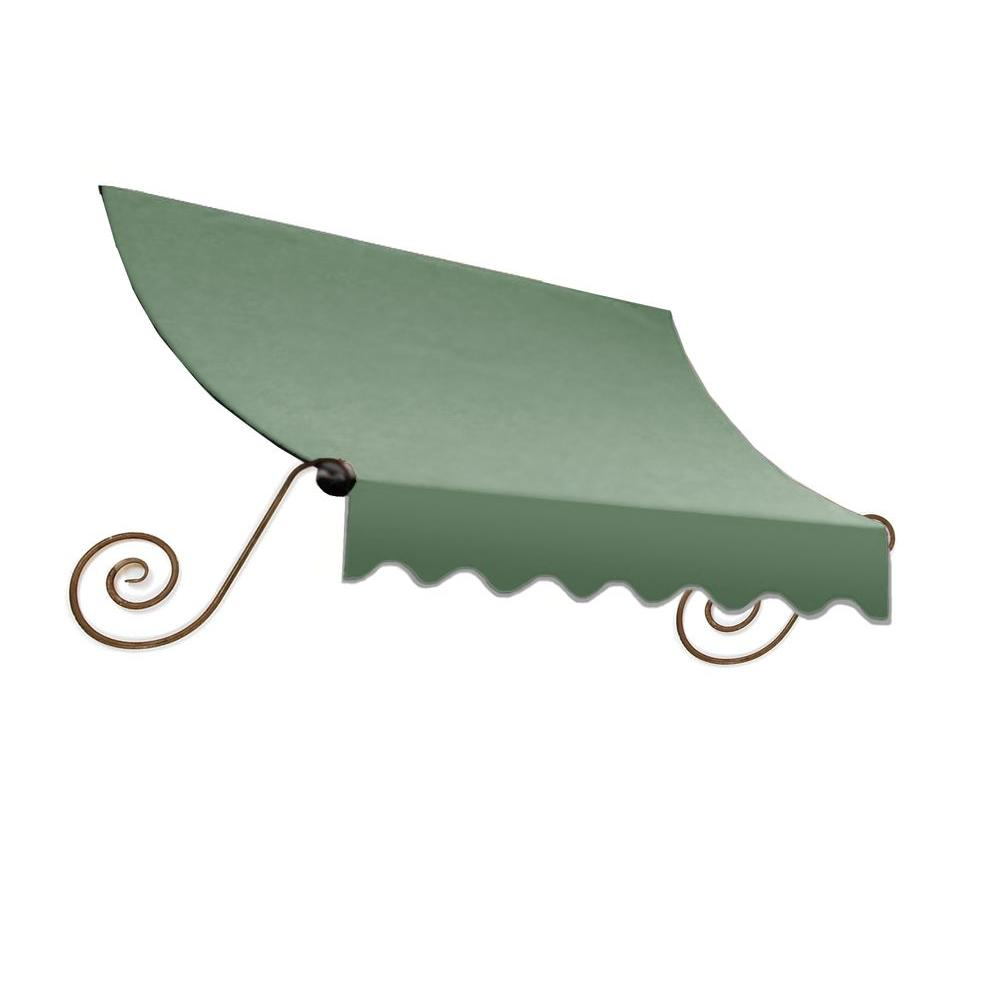 AWNTECH 5 ft. Charleston Window/Entry Awning (18 in. H x 36 in. D) in Sage
