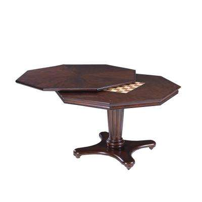 Ambassador Game Table in Medium Brown Cherry